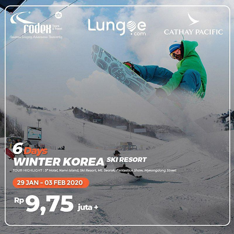 6D WINTER KOREA + SKI RESORT