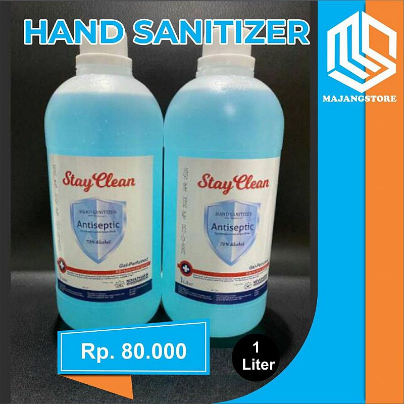 STAY CLEAN GEL HAND SANITIZER ANTISEPTIC 1LITER